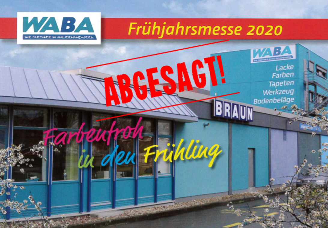 Messe Absage